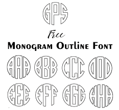 monogrammed fonts free monogram fonts for silhouette cameo instant