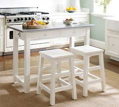 Kitchen Island Table With Stools Balboa Counter Height Table Stool 3 Dining Set White From