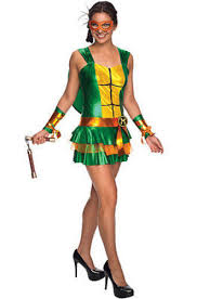 Ninja Turtle Womens Halloween Costumes Womens Michelangelo Tmnt Mutant Ninja Turtles Costume Dress
