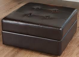 gorgeous leather storage ottoman black faux leather ottoman