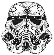 stormtrooper sugar skull by guardian angel15 coloring