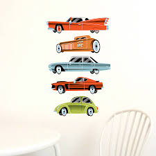 car wall stickers vintage cars fabric wall stickers bedroom