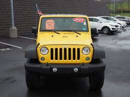 yellow jeep wrangler unlimited 2015 jeep wrangler unlimited sport clarksburg wv anmoore stonewood