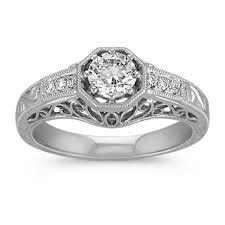 engraving engagement ring vintage diamond engagement ring with engraving shane co
