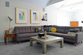 tufted sectional in family room eclectic with large sectional next