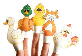 diy printable finger puppets chicken story