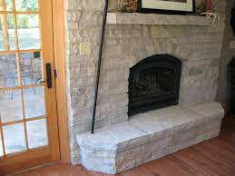 decoration rustic stone fireplace ideas