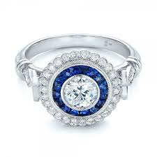 diamond double rings images Double halo sapphire and diamond engagement ring 101986 jpg
