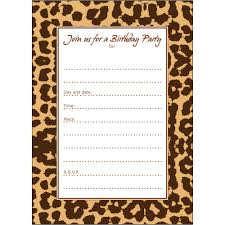 cheetah party invitations enimex us