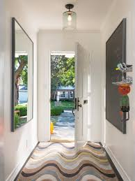 neat modern classy entryway with beautiful simple lighting