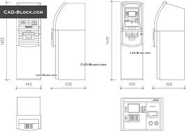 layout denah cafe atm machine cad blocks dwg file free autocad drawings in plan and