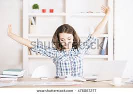 Computer Desk Stretches Stretch Students Stock Images Royalty Free Images U0026 Vectors