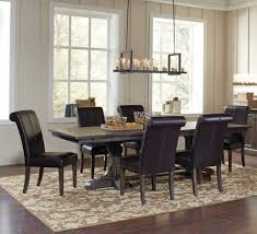 weber smokey black 7 piece rectangular extension dining table set