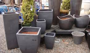plant awesome large resin planters explore tall planters outdoor