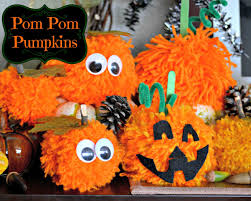 pom pom pumpkins kid u0027s halloween craft idea mom on timeout