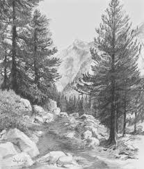 landscape pencil drawing drawing art gallery