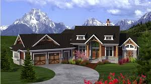Angled House Plans Craftsman Ranch With Angled Garage Hwbdo77277 Ranch From