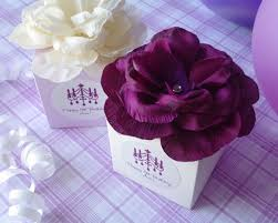personalized favor boxes personalized flower top favor box my wedding favors