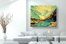 oil painting wall art modern art mountains of nepal canvas