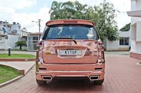 rose gold jeep modified maruti suzuki ertiga with rose gold chrome wrap autobics
