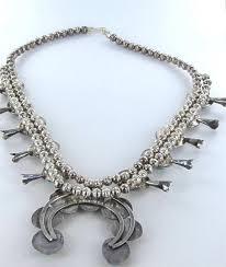 silver vintage necklace images Silver vintage native american turquoise sterling blossom squash jpg