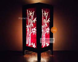 Japanese Floor Lamp Bamboo Floor Lamp Etsy