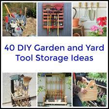 Diy Garden Tool Storage Ideas 40diygardentoolstorageideas Jpg