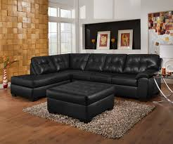 Contemporary Black Leather Sofa Black Leather Sectional Black Leather Sectional With Chaise