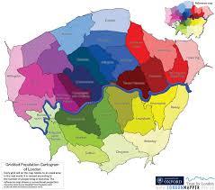 cartogram map reference map londonmapper