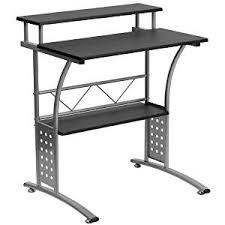 computer desk with shelves white amazon com flash furniture clifton black computer desk kitchen