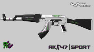 Flag With Ak 47 Ak 47 Sport Counter Strike Global Offensive Skin Mods