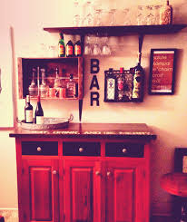 Diy Home Bar by Diy Home Bar Using An Old Buffet Scrap Wood Shelving Magazine