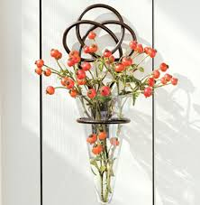 Vase Wall Sconce Iron Knot Wall Vase Contemporary Vases Atlanta Iron Accents Inside