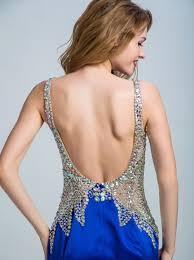 mermaid trumpet straps floor length royal blue backless prom