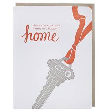 key to new home card new home congratulations smudge ink