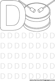 letter preschool coloring pages