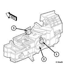 dodge ram heater replacement hvac blend door issue