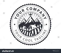 vintage alfa romeo logo vintage countryside house view badge logo stock vector 576746404