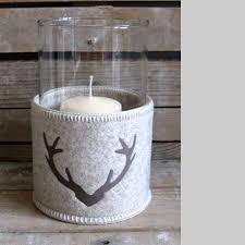 porta candele porta candele in vetro e feltro ricamato isere