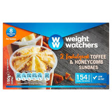 cuisine weight watchers morrisons weight watchers toffee honeycomb sundaes 2 x 180ml
