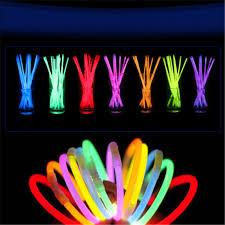 neon party supplies 100pcs 8 multi color glow light stick bracelets necklace