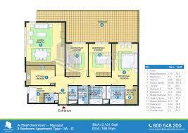 3 bedroom apartment floor plans apartments 3 bedroom ground floor plan floor plan of al reef