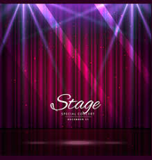 Stage With Curtains Stage With Curtains And Spotlights Royalty Free Vector Image