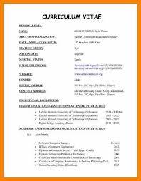 resume cv format 8 curriculum vitae format edu techation