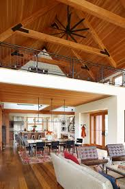 kichler ceiling fans in living room farmhouse with new home