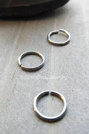 helix hoop earrings helix hoop earring 18g cartilage seam ring silver stainless steel tiny