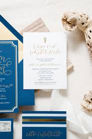 wedding invitations navy paper honeymodern nautical navy gold foil wedding invitations