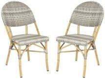 Safavieh Bistro Chairs Fox5204b Set2 Dining Chairs Outdoor Dining Chairs Outdoor Home