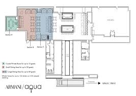 Italian Restaurant Floor Plan Armani Aqua Elegant Italian And Japanese Restaurant