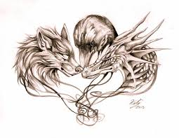 wolf dragon and crow tattoo by lucky978 on deviantart